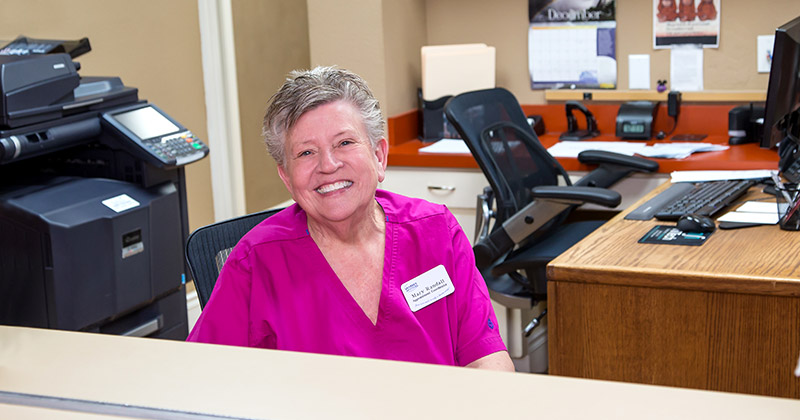 Our receptionist will be delighted to answer your questions and get you seen.